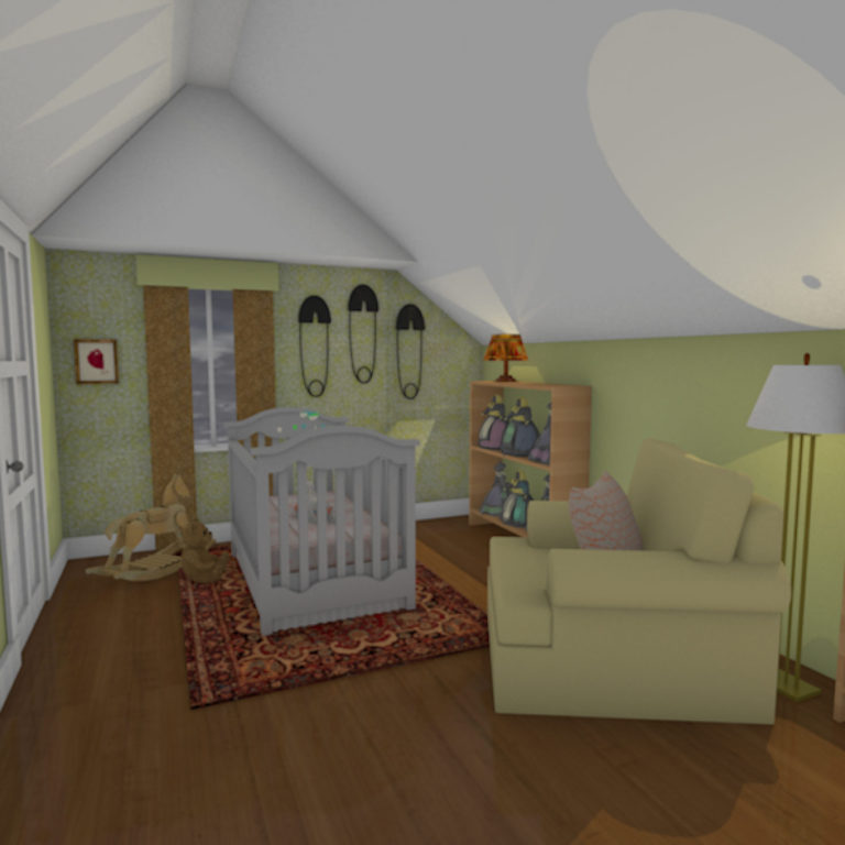 The Sitter • Nursery Room Concept Rendering
